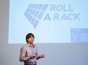 Roll-A-Rack CEO John Turner Pitching at an Event